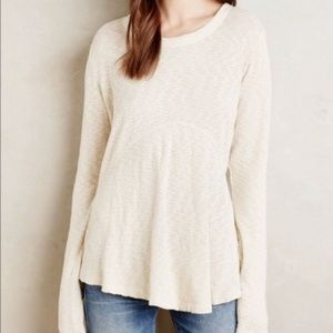 Anthropologie | Left of Center Cream Dara Pullover